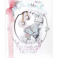 Mr & Mrs Handmade Me To You Bear Wedding Day Card
