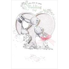 On Your Wedding Day Handmade Me To You Bear Wedding Day Card