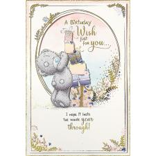A Birthday Wish Handmade Me to You Bear Birthday Card