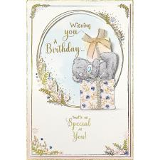 Tatty Teddy On Presents Handmade Me to You Birthday Card