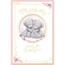 Bears Holding Daisy Handmade Me to You Bear Birthday Card