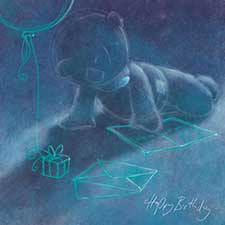 Happy Birthday Sketched Me to You Bear Card