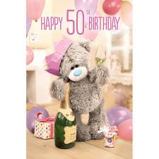 3D Holographic 50th Me to You Bear Birthday Card