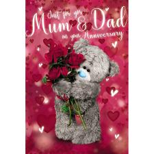 3D Holographic Mum & Dad Me to You Bear Anniversary Card