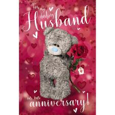 3D Holographic Husband Me to You Bear Anniversary Card