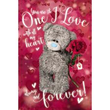 3D Holographic One I Love Me to You Bear Birthday Card