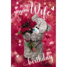 3D Holographic Wife Me to You Bear Birthday Card