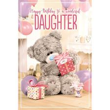 3D Holographic Daughter Me to You Bear Birthday Card