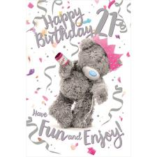 3D Holographic 21st Birthday Me to You Bear Card
