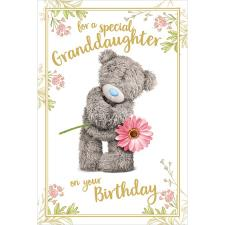 3D Holographic Granddaughter Birthday Me to You Bear Card