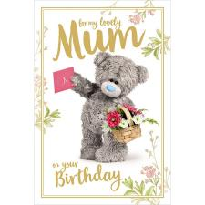 3D Holographic Mum Me to You Bear Birthday Card