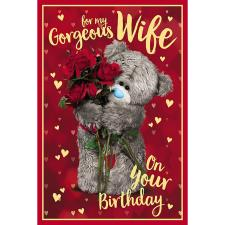 3D Holographic Gorgeous Wife Me to You Bear Birthday Card