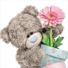 3D Holographic Flower Pot Me to You Bear Card