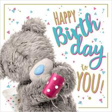3D Holographic With Party Whistle Me to You Bear Birthday Card