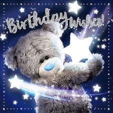 3D Holographic Bear With Stars Me to You Bear Birthday Card