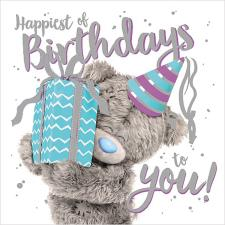 3D Holographic Giving Present Me to You Bear Birthday Card