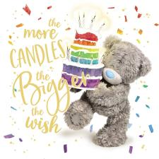 3D Holographic Birthday Cake Me to You Bear Card