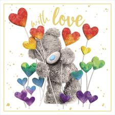 3D Holographic With Love Me to You Bear Card
