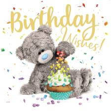 3D Holographic Birthday Wishes Me to You Bear Card
