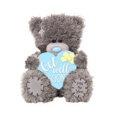 "4"" Get Well Soon Padded Heart Me to You Bear"