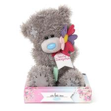 "7"" Special Daughter Holding Flower Me To You Bear"