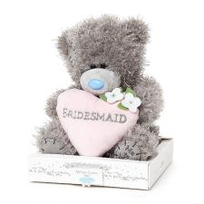 "7"" Bridesmaid Padded Heart Me to You Wedding Bear"