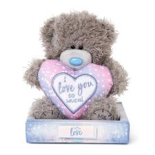"7"" I Love You So Much Padded Heart Me to You Bear"