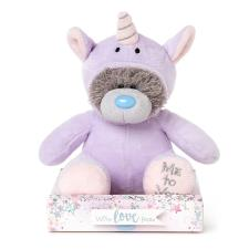 "7"" Purple Unicorn Onesie Me to You Bear"