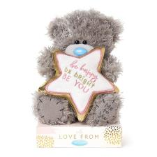 "7"" Be Happy Padded Star Me to You Bear"