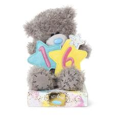 "7"" Holding 16th Birthday Stars Me to You Bear"