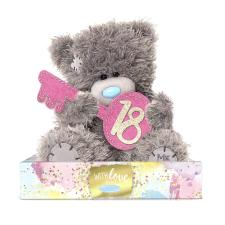 "7"" Holding 18th Birthday Key Me to You Bear"