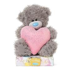 "7"" Holding Large Pink Padded Heart Me to You Bear"
