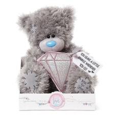 "9"" Holding Padded Diamond Me To You Bear"