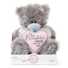 "9"" Daughter Verse Padded Heart Me To You Bear"