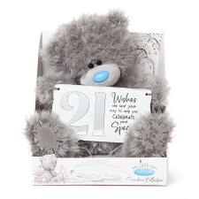 "9"" Holding 21st Birthday Plaque Me to You Bear"