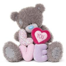 "28"" Padded Love Letters Me To You Bear"