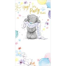 Tatty Teddy Holding Birthday Banner Me to You Bear Birthday Card