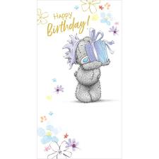 Tatty Teddy Holding Birthday Present Me to You Bear Birthday Card