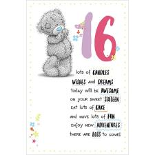 16th Birthday Me to You Bear Birthday Card