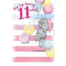 Hip Hip Hooray 11 Today Me to You Bear Birthday Card