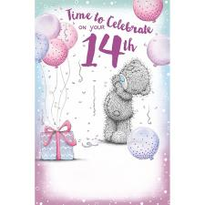 14th Birthday Me To You Bear Birthday Card