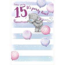 15th Birthday Me To You Bear Birthday Card