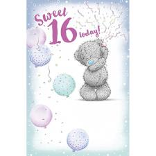 Sweet 16 Today Me to You Bear 16th Birthday Card