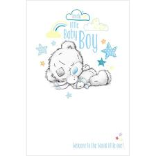 New Little Baby Boy Me to You Bear Card