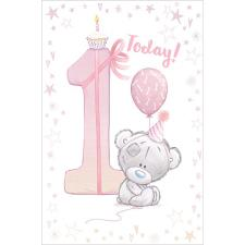 Little Girl 1 Today Tiny Tatty Teddy Me to You Bear 1st Birthday Card