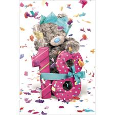 18th Birthday Photo Finish Me To You Bear Birthday Card