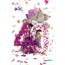 40th Birthday Photo Finish Me to You Bear Birthday Card
