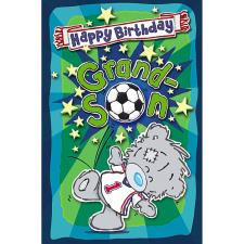 Grandson My Dinky Bear Me to You Bear Birthday Card