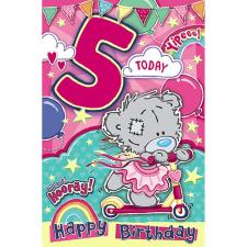 5 Today My Dinky Bear Me to You Bear 5th Birthday Card