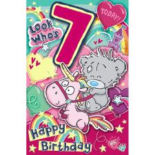 My Dinky 7 Today Me to You Bear 7th Birthday Card